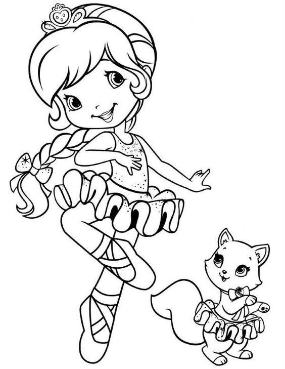 Moranguinho Bailarina Desenhos Para Colorir