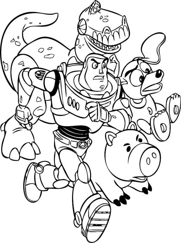 Buzz Lightyear E Seus Amigos Desenhos Para Colorir