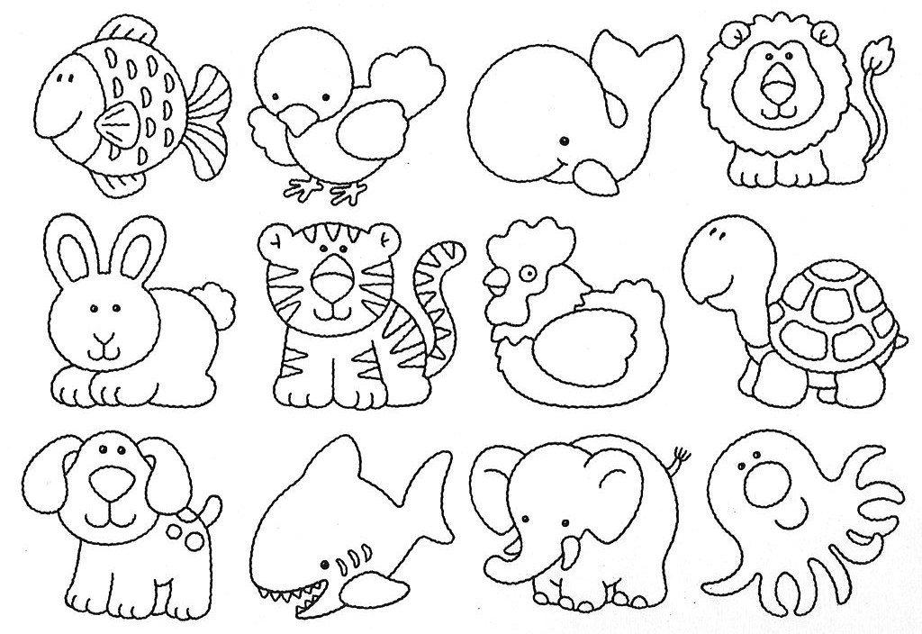 Animais Infantis Para Colorir Desenhos Para Colorir