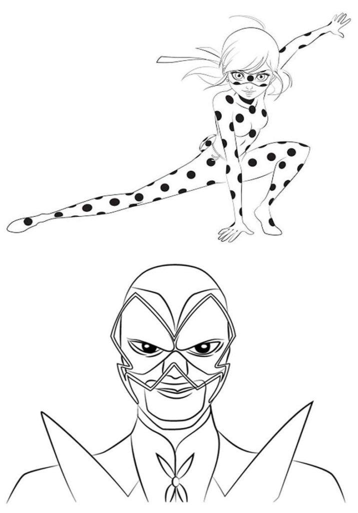Ladybug E Seu Arqui Inimigo Desenhos Para Colorir