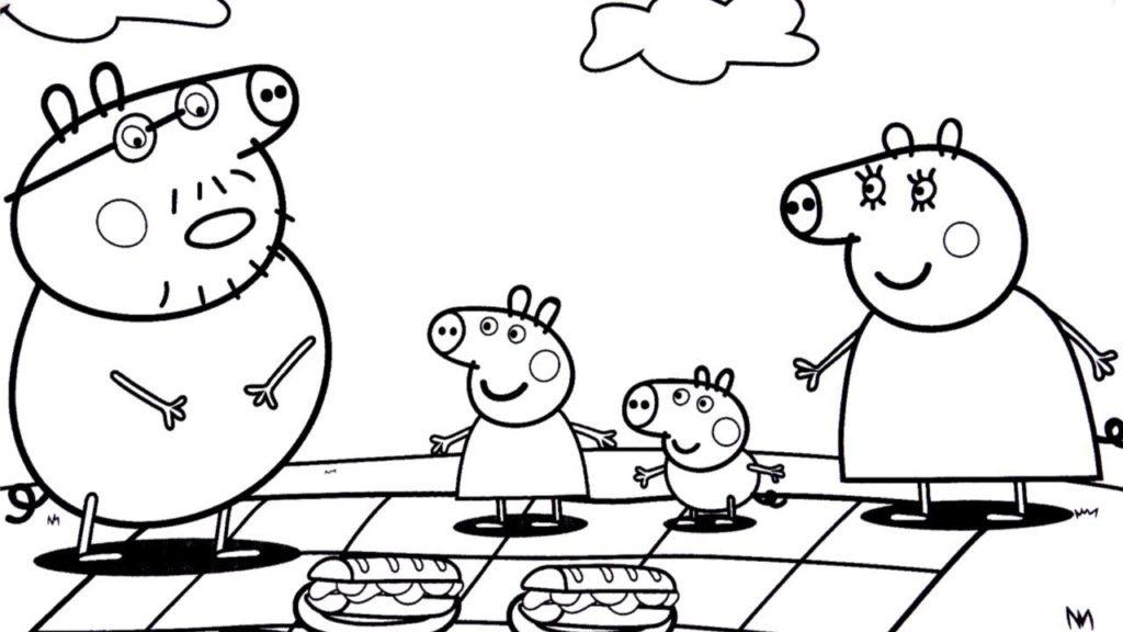 Papai Da Peppa Com Fome Desenhos Para Colorir