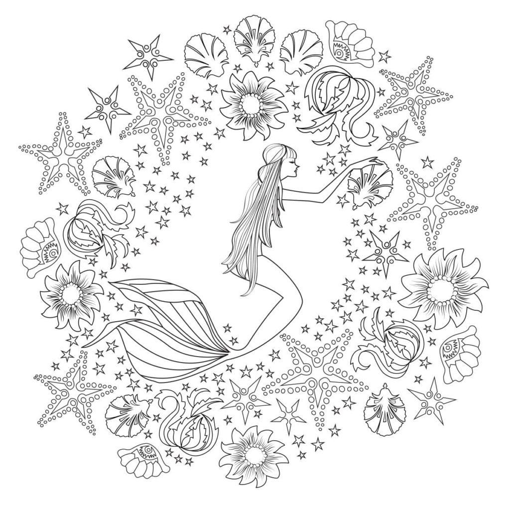 Desenhos Para Pintar E Colorir A Pequena Sereia Imprimir Desenho 023