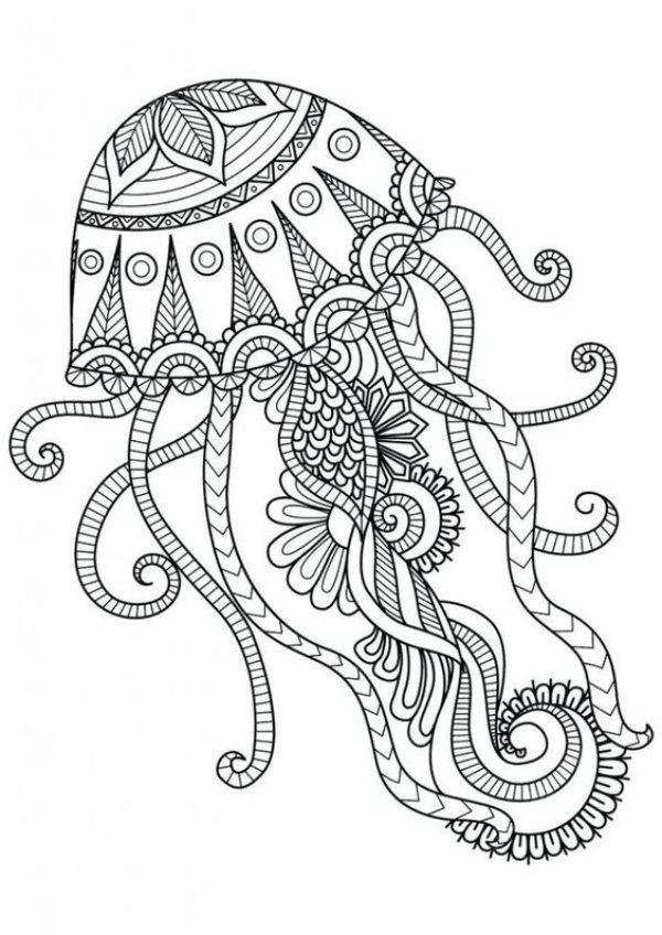 Mandala De Agua Viva Desenhos Para Colorir