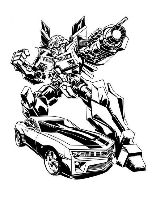 Carro e Rob Transformer Desenhos