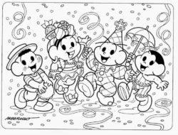 Mais De 50 Desenhos Da Turma Da Monica Para Colorir E Imprimir