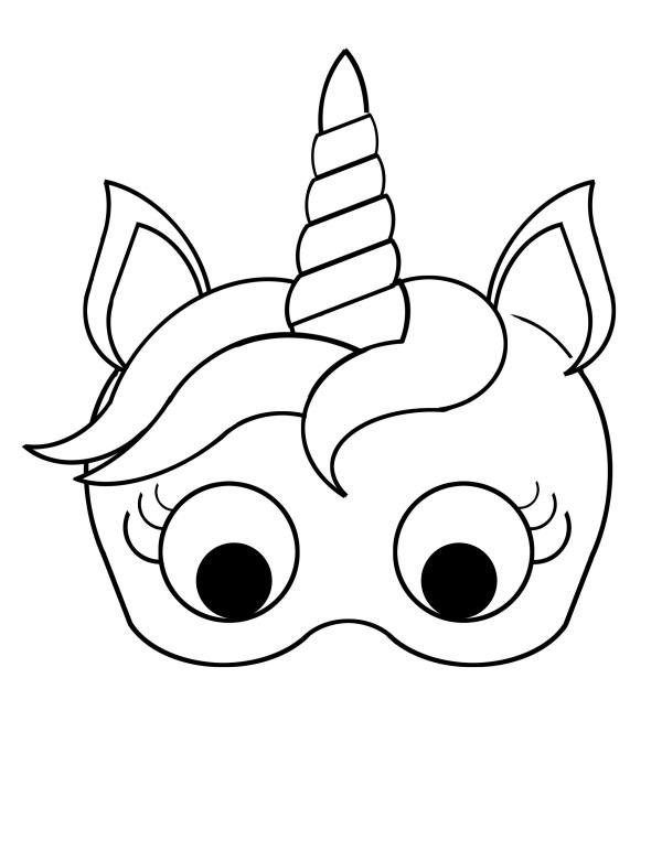 Mascara De Unicornio Para Colorir Desenhos Para Colorir