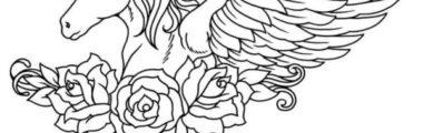 Unicornio Dormindo Desenhos Para Colorir