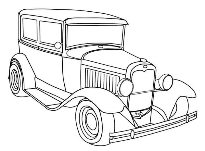 Carro Antigo Classico Desenhos Para Colorir