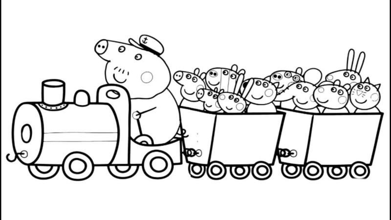 Trenzinho Da Peppa Pig Desenhos Para Colorir