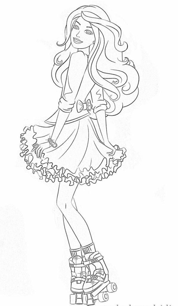 Barbie De Patins Desenhos Para Colorir