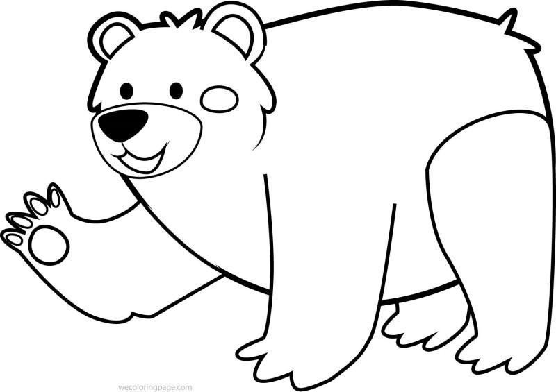 Ursinho Simpático Para Colorir Desenhos Para Colorir