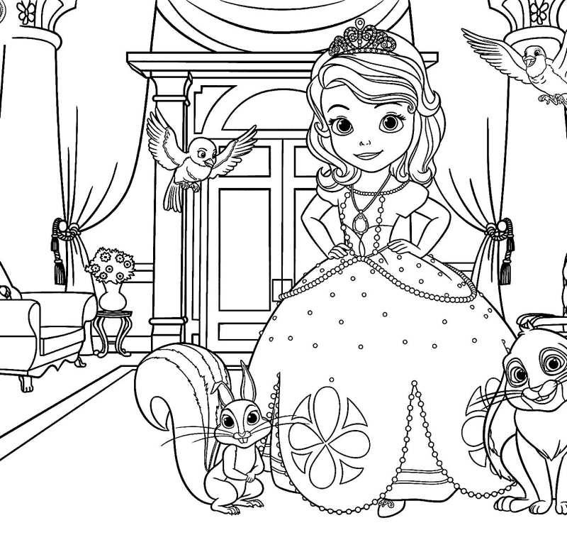 Princesa Sofia Em Seu Castelo Desenhos Para Colorir
