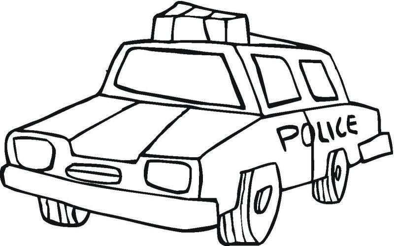 Carro De Policia Para Colorir Desenhos Para Colorir