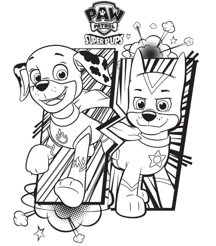 Super Filhotes Da Patrulha Canina Desenhos Para Colorir