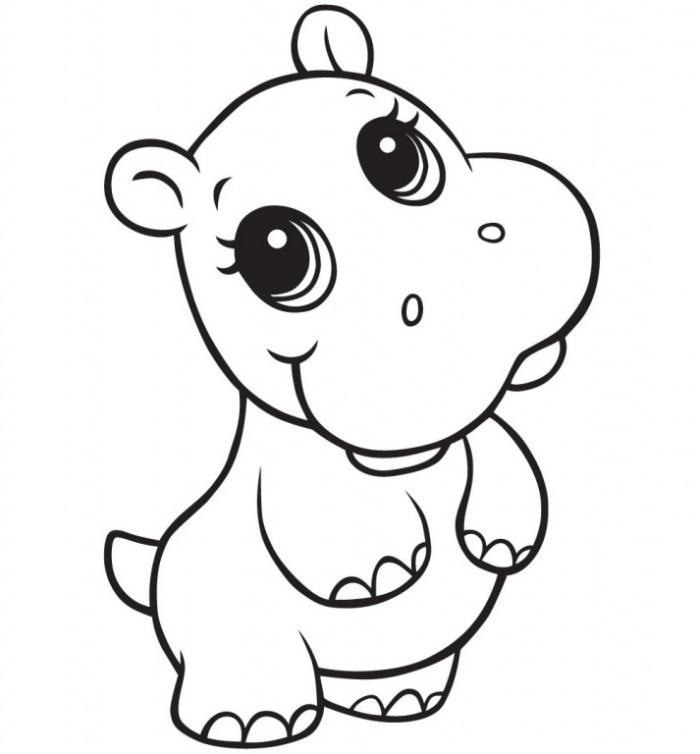 Hipopotamo Bebe Para Colorir Desenhos Para Colorir