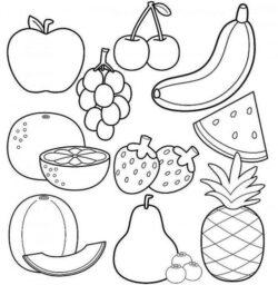 Desenhos De Frutas Para Colorir E Imprimir Desenhos Para Colorir