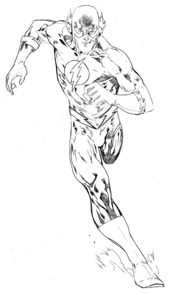 Super Heroi Flash Correndo Desenhos Para Colorir