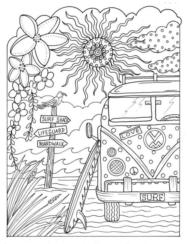Desenho Adulto Praiano Desenhos Para Colorir