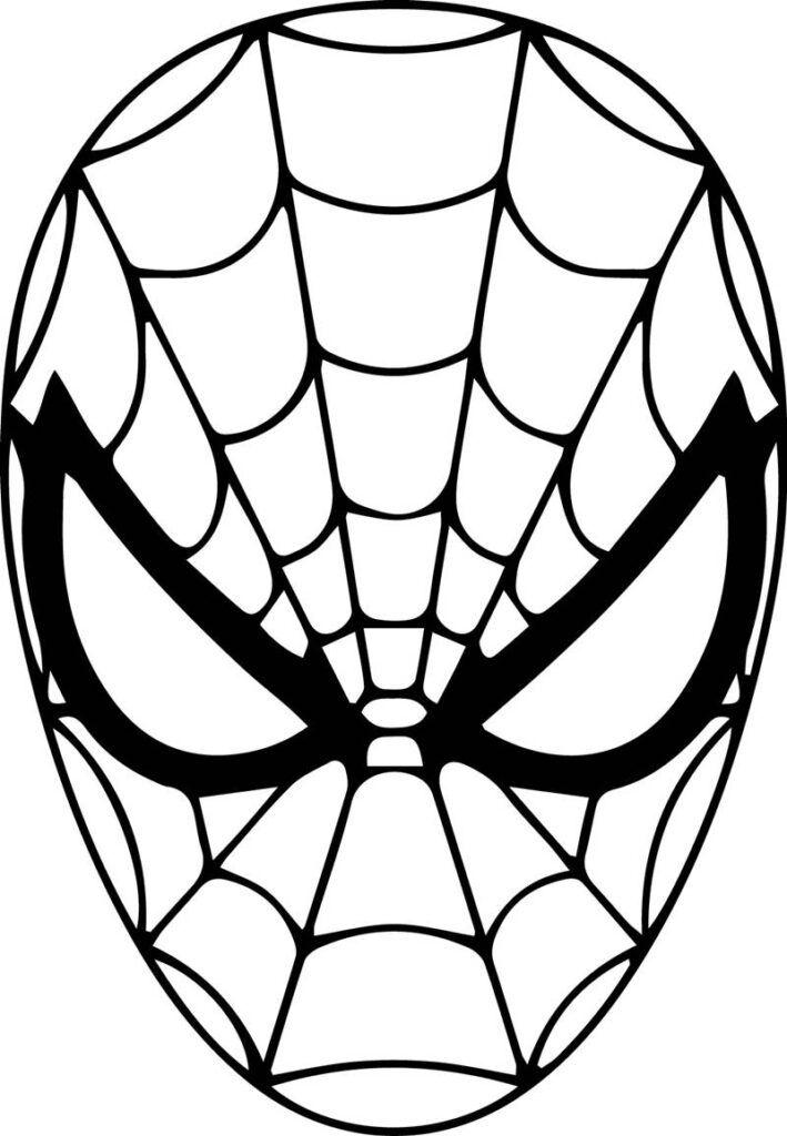 Rosto do Homem Aranha para Pintar – Desenhos para Colorir