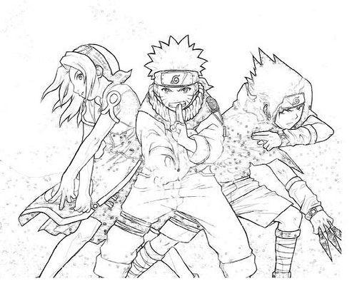 Naruto E Seus Amigos Desenhos Para Colorir