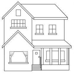 desenhos de casas desenhos para colorir