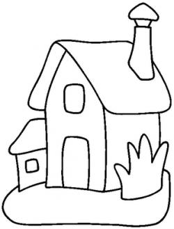 Casa Preto E Branco Desenhos Para Colorir