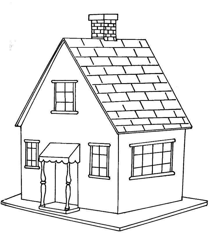 casa pequena desenhos para colorir