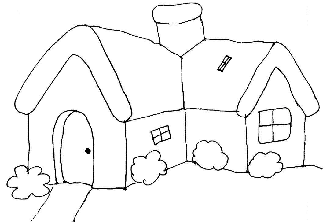 Casinha desenhos para colorir - Dibujos para pintar casas ...