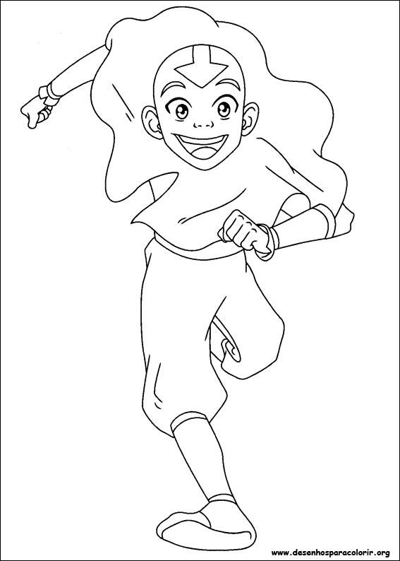 Correndo Avatar A Lenda De Aang Desenhos Para Colorir