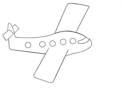 avião simples desenhos para colorir