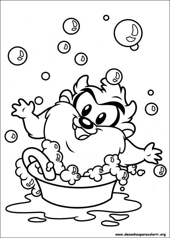 Taz baby looney tunes desenhos para colorir for Baby looney tunes taz coloring pages