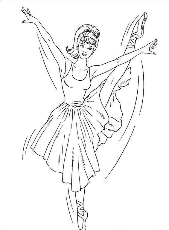 Barbie Dancando Bale Desenhos Para Colorir
