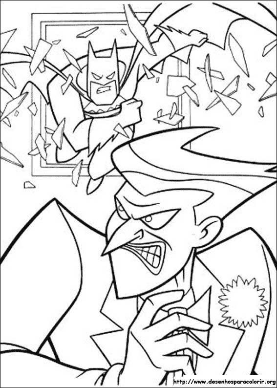 Batman E O Coringa Desenhos Para Colorir