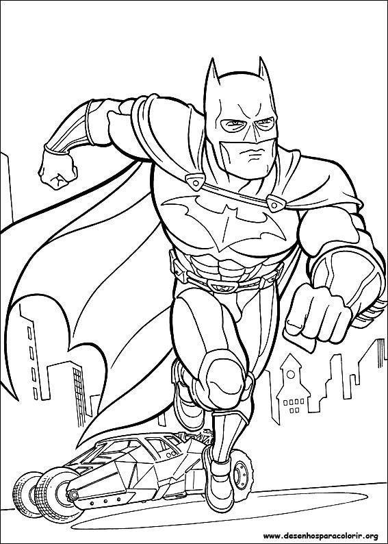 Batman Em Acao Desenhos Para Colorir