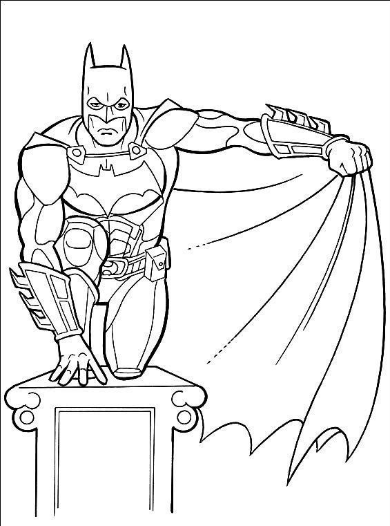Batman Para Atacar Desenhos Para Colorir