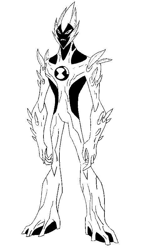 Alien Ben 10 Desenhos Para Colorir