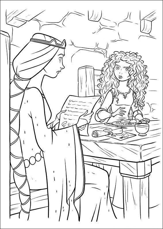 mérida conversando com rainha elinor  desenhos para colorir