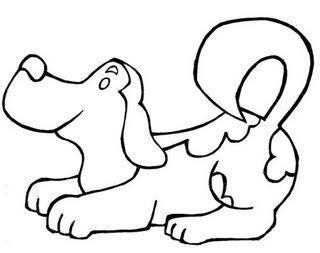 Cachorro Querendo Brincar Desenhos Para Colorir