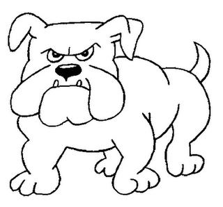 cachorro zangado desenhos para colorir