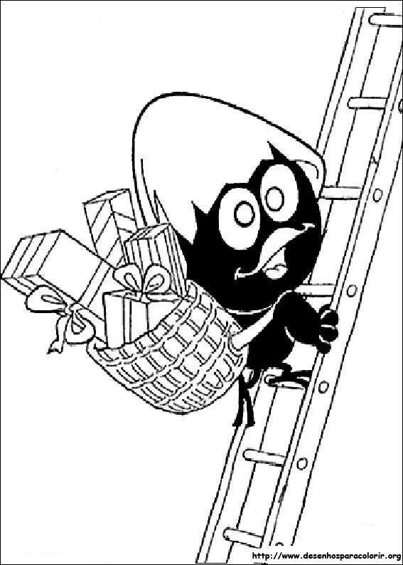 Calimero descendo escadas desenhos para colorir - Dessin de calimero ...