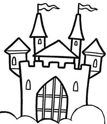 castelo desenhos para colorir