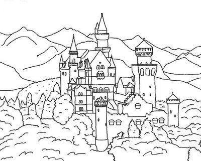 castelo e reino desenhos para colorir
