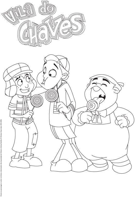 chaves kiko e nhonho desenhos para colorir