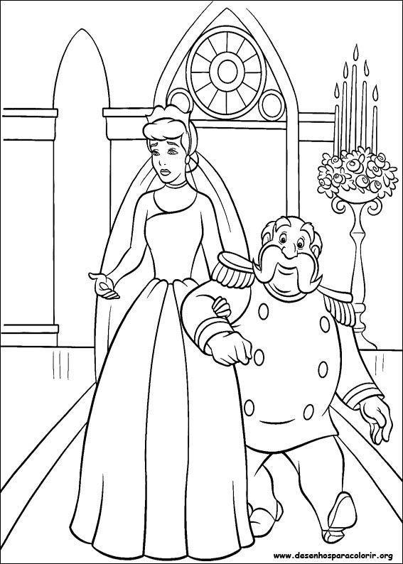 cinderela e o rei desenhos para colorir