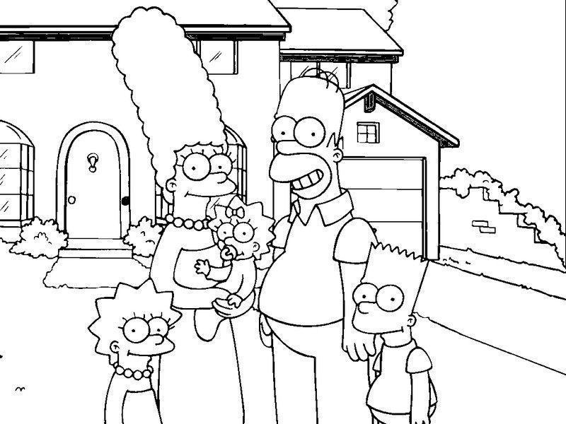 Os Simpsons Casa Desenhos Para Colorir