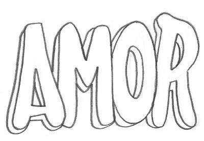 Palavra Amor Desenhos Para Colorir