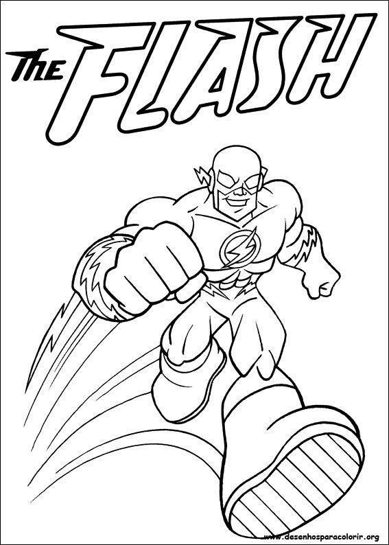 Flash Desenhos Para Colorir