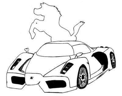 Ferrari Desenhos Para Colorir