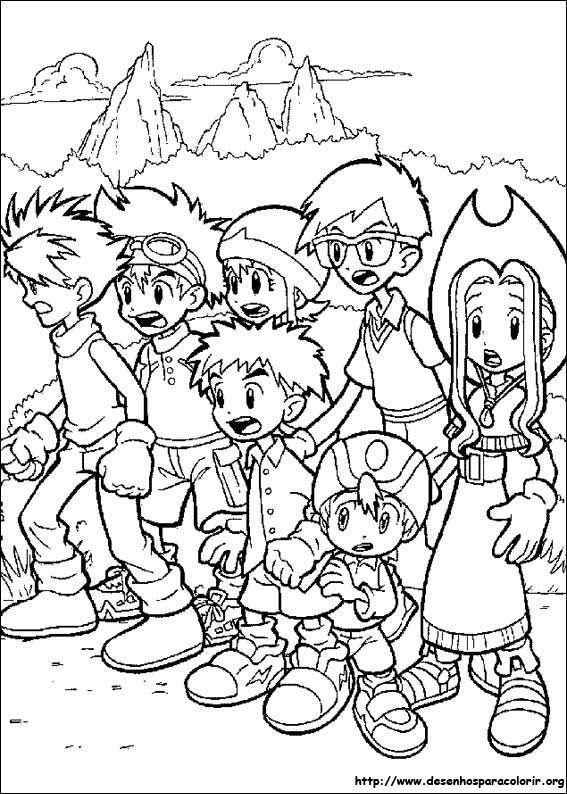 Todos juntos Digimon Desenhos