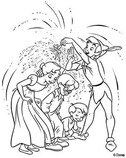 Peter Pan E Criancas Desenhos Para Colorir